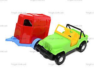 Машинка с прицепом-конюшней, 39007, детские игрушки