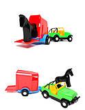 Машинка с прицепом-конюшней, 39007, магазин игрушек