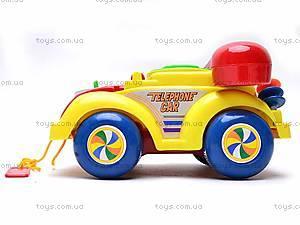 Машинка-телефон, музыкальная, 705, магазин игрушек