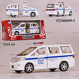 Машинка Toyota Alphard «Полиция», KT5066WR-2