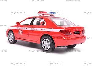 Машинка Toyota Corolla «Пожарная», KT5099WR-1, купить