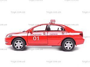 Машинка Toyota Corolla «Пожарная», KT5099WR-1, фото