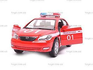 Машинка Toyota Corolla «Пожарная», KT5099WR-1, отзывы
