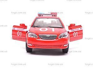 Машинка Toyota Corolla «Пожарная», KT5099WR-1, игрушки