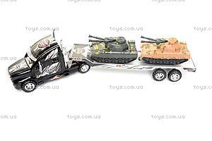 Машинка «Трейлер», с 2 танками, 689-3A