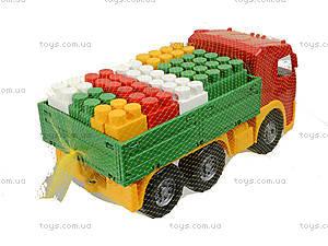 Игрушечный грузовик с набором конструктора «Беби-Блок», 1722, фото