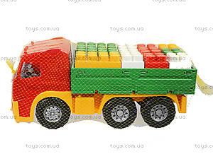 Игрушечный грузовик с набором конструктора «Беби-Блок», 1722, цена