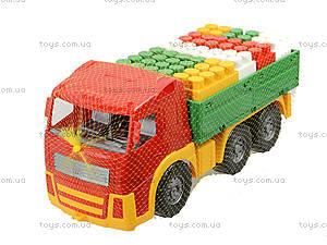 Игрушечный грузовик с набором конструктора «Беби-Блок», 1722, игрушки