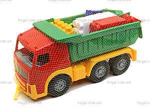 Игрушечный грузовик с набором конструктора, 1753, игрушки