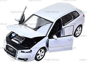 Коллекционная машина Audi A3 Sportback, 22467W, детские игрушки
