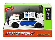 "Машина ""Автопром: Полиция"" вид 1, 7917AB, набор"