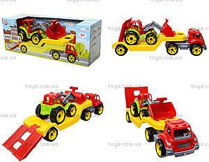 Игрушечный автовоз с трактором, 3916