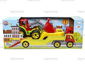 Игрушечный автовоз с трактором, 3916, отзывы