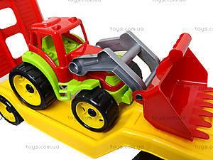 Игрушечный автовоз с трактором, 3916, игрушки