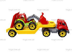 Игрушечный автовоз с трактором, 3916, детские игрушки