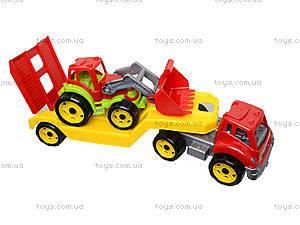 Игрушечный автовоз с трактором, 3916, магазин игрушек
