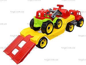 Игрушечный автовоз с трактором, 3916, toys.com.ua