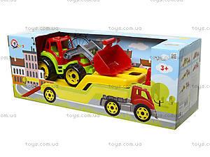 Игрушечный автовоз с трактором, 3916, toys
