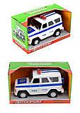 Машина АВТОПРОМ «Полиция с эффектами», 7659-4, фото