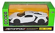 Машина белая металлическая, 32013, фото