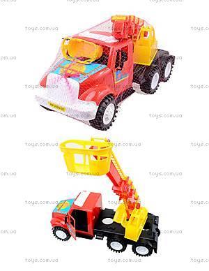 Детская пожарная машина с подъемником, 13-004-1