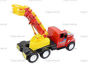 Детская пожарная машина с подъемником, 13-004-1, игрушки