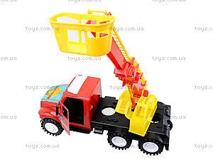 Детская пожарная машина с подъемником, 13-004-1, детские игрушки