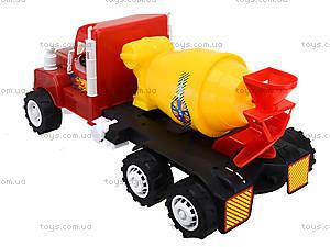 Машина детская «Бетономешалка», 15-005-1, игрушки