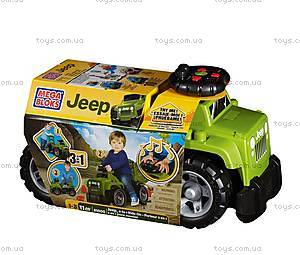 Машина-каталка «Джип Mega Bloks», зеленый, DBL17, купить