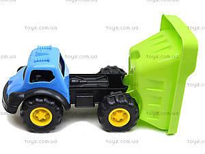 Машина «Лори» с лопаткой и граблями, 07-715-3, детские игрушки