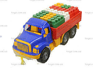 Бортовой грузовик с набором конструктора, 1708, детские игрушки