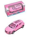 Металлическая машинка для девочки, розовая, XY103, отзывы