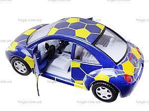 Металлическая модель машины «Volkswagen New Beetle», KT5028WR, детские игрушки