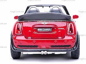 Металлическая модель машины «Mini Cooper S Convertible», KT5089W, купить