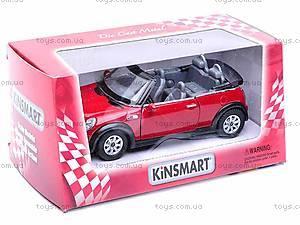 Металлическая модель машины «Mini Cooper S Convertible», KT5089W
