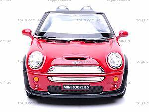 Металлическая модель машины «Mini Cooper S Convertible», KT5089W, цена
