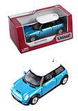 Машина металлическая Mini Cooper S, KT5059W, купить