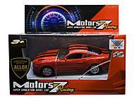 """Машина металлопластик """"Chevrolet Camaro"""" красный, K135A-19, фото"""