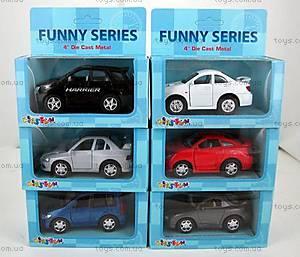 Машина металлическая серия Funny series, KT4008-16W