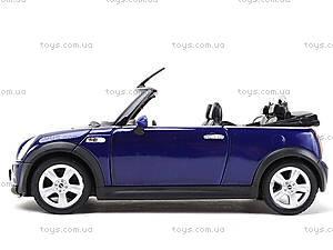 Машина Mini Cooper S Cabrio, 22461W, игрушки