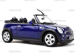 Машина Mini Cooper S Cabrio, 22461W, детские игрушки