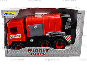 Красный мусоровоз Multi truck, 39488, фото