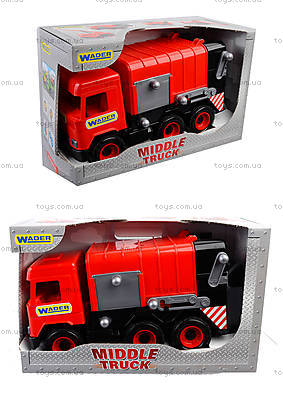 Красный мусоровоз Multi truck, 39488