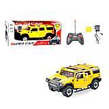 Машина на радиоуправлении для мальчиков «Hummer» желтая, 3688-K25A, фото