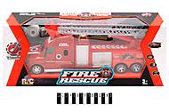 Машина на радиоуправлении «Пожарная» со световыми эффектами, 666-194A, детские игрушки