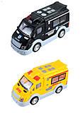"""Машинка микроавтобус """"Полиция"""" инерционная, с музыкой, светом, ST66-04"""