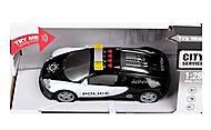 Машина «Полиция» инерционная со светом и звуком, WY630B