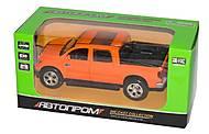 Машина «Пикап» оранжевый, 7797
