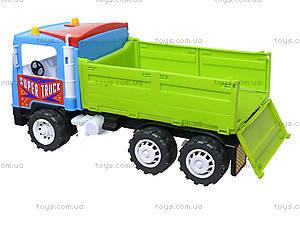 Бортовая машина-самосвал с лопаткой и пасочками, 14-006-100, игрушки