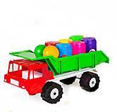 Машина самосвал «Денни классик» с бочонками, 3684, іграшки
